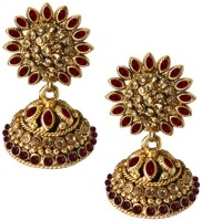 Beingwomen Elegant Vidya Balan Inspired Gold-Plated With Kundan Studded Fashion Yellow Gold Plated Alloy Jhumki Earring