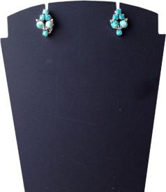 Rasianve Precious Jewellery RO1260 Turquoise Silver Stud Earring