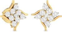 WearYourShine By PCJ The Maise 18 K Diamond Gold Stud Earring