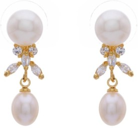 Pearls Cart Alloy Drop Earring