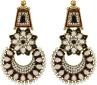Asmara Exquisite Pearl And Kundan Embellished Alloy Dangle Earring