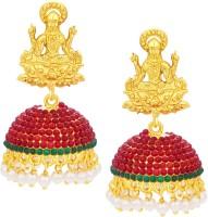 Sukkhi Divine Laxmi Laxmi Temple Jhumki Gold Plated AD Alloy Jhumki Earring