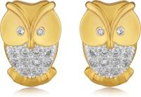 Mahi Mystical Owl Cubic Zirconia Brass, Alloy Stud Earring