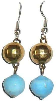 Beadworks Beadworks Alloy, Glass, Resin Dangle Earring (Turquoise)