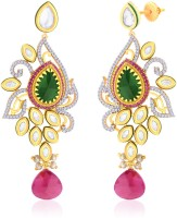 Peora Gold Plated Dazzling Vilandi Earrings 18K Yellow Gold Plated Alloy Drop Earring
