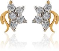 Dhruvi Creation By Zaveri Pearls 22K Yellow Gold, Rhodium K Cubic Zirconia Brass Stud Earring - ERGEFYG4ANXCYZWD