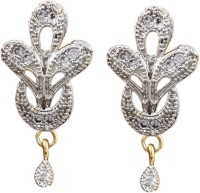 Jewelry Place Handmade Gold Plated American Diamond Alloy Drop Earring