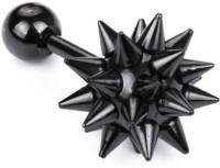Vaishnavi First Quality Korean Made Non-Allergic Spike Design Black 316L Stainless Steel Stud Earring