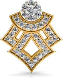 Diaonj Duo Quartz Flora Yellow Gold 18kt Diamond Stud Earring