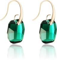 Swarovski Elements Green Crystal Gold Plated Gift For Women Swarovski Crystal Metal Dangle Earring