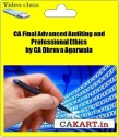 CAKART CA Final Advanced Auditing And Professional Ethics By CA Dhruva Agarwala - Pen Drive