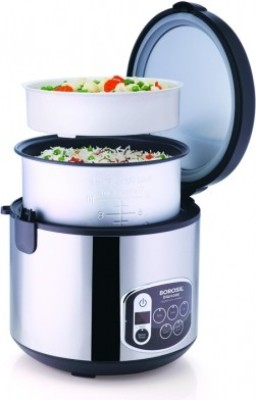 Borosil Digikook Electric Rice Cooker And Steamer 1800ml 1.8 L