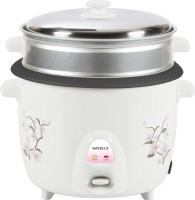 Havells Riso GHCRCBOW070 Electric Rice Cooker With Steaming Feature (1.8 L, White)