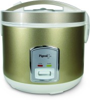 Pigeon Glorious 1.8 Electric Rice Cooker With Steaming Feature (1.8 L, Golden)