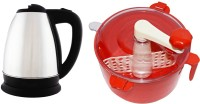 Grind Sapphire Gs55- Atta Maker With White Cherry Electric Kettle (2 L, Silver)