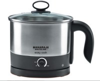 Maharaja Whiteline Easy Cook Noodle Maker 1.2 L Electric Kettle (Black & Metal Finish)