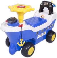 Ez' Playmates Pirate Ship Fun Ride On Blue Car (Blue)