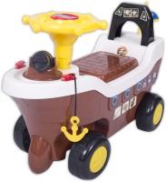 Ez' Playmates Pirate Ship Fun Ride On Brown Car (Brown)