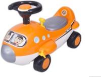 Ez' Playmates Mini Cartoon Plane Ride On Orange Car (Orange)