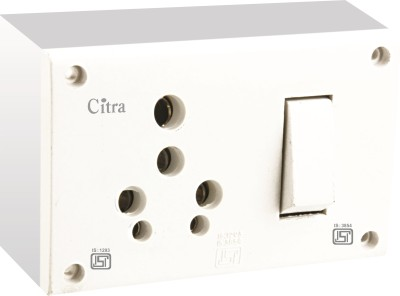 Citra 15 A. switch socket combined with pvc box Electrical Combo