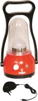 Urjja 12 Led Moon Light Red With Charger Emergency Lights (Red)