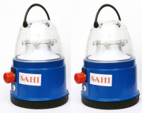 Sahi Rechargeable Mini (Blue) With Charger-set Of 2 Emergency Lights (Blue)
