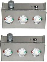 Kaka Ji 3 Star Metal Emergency Lights (Silver)