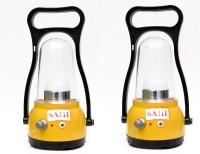 Sahi Rechargeable Moon (yellow) With Charger - Set Of 2 Emergency Lights (Yellow, Black)