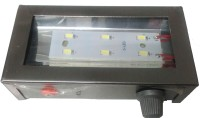 Instella Rechargable 6 Led With Glass Top Reflector Emergency Lights (Metal Azura Grey)