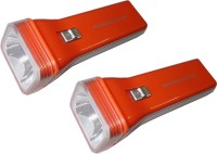 Tuscan Rechargeable High Beam Elite - Set Of 2 Pcs Combo Torches (Orange)