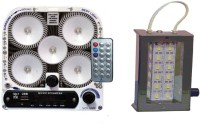 CELLZONE COMBO PACK OF 5 LED WITH FM RADIO & 12 LED RECHARGEABLE Emergency Lights (Multicolor)
