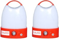 Sahi Rechargeable Led Light With Charger -set Of 2 Emergency Lights (Red)