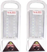 Sahi Rechargeable LED Lite With Charger - Set Of 2 Emergency Lights (White)
