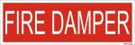SignageShop Fire Damper Emergency Sign