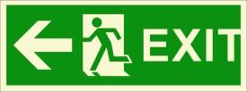 BRANDSHELL EXIT Left Side Emergency Sign