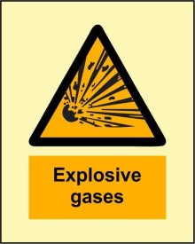BRANDSHELL Explosive Gases Emergency Sign
