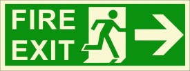 BRANDSHELL Fire Exit Right Side Emergency Sign