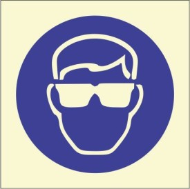 BRANDSHELL Eye Protection Must be Worn Emergency Sign