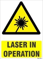 SignageShop Laser In Operation Emergency Sign