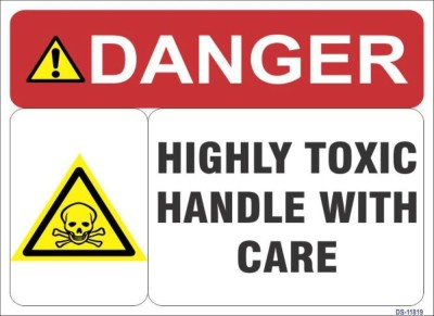SignageShop Highly Toxik Handle with care Emergency Sign