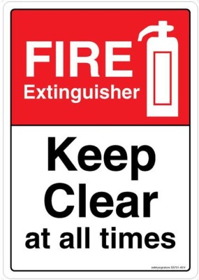 Safety Sign Store Safety Sign Store Fire Extinguisher. Keep Clear at All Times Emergency Sign