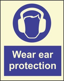 BRANDSHELL Wear Ear Protection Emergency Sign