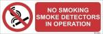 SignageShop No smoking, smoke detactors in operation Emergency Sign