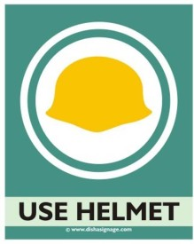 Dishasignage Use-Helmet Emergency Sign
