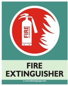 Dishasignage Fire-Extinguisher Sign Board Emergency Sign