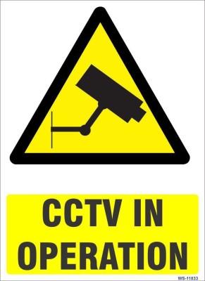 SignageShop CCTV in Operation Emergency Sign