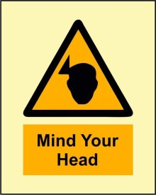 BRANDSHELL Mind Your Head Emergency Sign