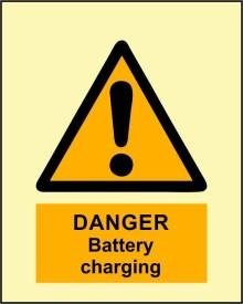 BRANDSHELL Danger Battrey Charging Emergency Sign