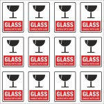 SignageShop Glass Handle with care Stickers Emergency Sign