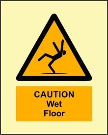BRANDSHELL Caution Wet Floor Emergency Sign